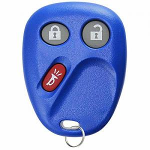 KeylessOption Keyless Entry Remote Control Key Fob Clicker Transmitter Replacement Compatible with LHJ011 -Blue