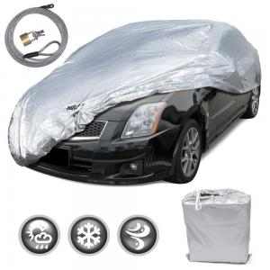 Motor Trend All Season WeatherWear 1-Poly Layer Snow proof, Water Resistant Car Cover Size M - Fits up to 170""