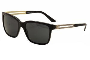 Versace 4307 GB1/87 Black Gold 4307 Wayfarer Sunglasses Lens Category 3 Lens Mi