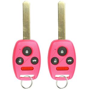 KeylessOption Keyless Entry Remote Control Car Key Fob Replacement for OUCG8D-380H-A - Pink (Pack of 2)