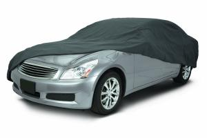 Classic Accessories 10-016-241001-00 OverDrive PolyPro III Heavy Duty Compact Sedan Car Cover