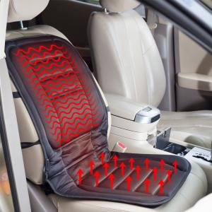 CTAUSA Heated Car Seat Cushion, 12-Volt Plugs Into Cigarette Lighting With 3 Way Temperature Control