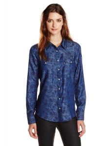 Levi's Women's Tailored Western Chambray Shirt