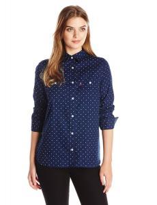 Levi's Women's Classic Polka Dot Boyfriend Shirt