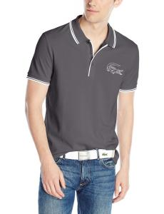 Lacoste Men's Short Sleeve Pique Printed Croc Regular Fit Polo Shirt
