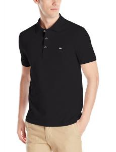 Lacoste Men's Short Sleeve Stretch Mini Pique Slim Fit Polo Shirt