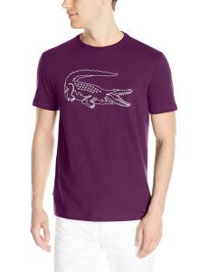 Lacoste Men's Short Sleeve Croc Graphic Regular Fit T-Shirt