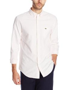 Lacoste Men's Long-Sleeve Striped Oxford Shirt