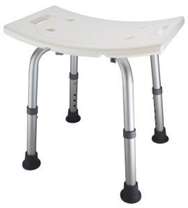 Ez2care Adjustable Lightweight Shower Bench, White