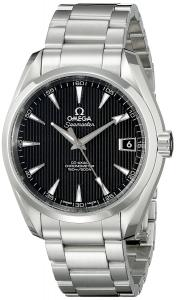 Omega Men's 23110392101001 Analog Display Automatic Self Wind Silver Watch