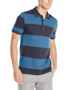 Lacoste Men's Short-Sleeve Classic Pique Bar Stripe Polo Shirt