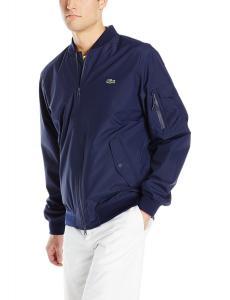 Lacoste Men's Lightweight Nylon Bomber Jacket