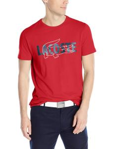 "Lacoste Men's Short Sleeve Croc"" Graphic Regular Fit T-Shirt"