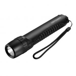 Rechargeable LED Flashlight, DBPOWER 10400mAh IPX6 Emergency Waterproof Flashlight 280LM Cree LED Handheld Flashlight for Hiking, Camping Power Bank Flashlight for Cell Phones Tablets and 5V Devices