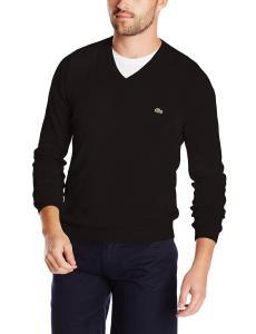 Lacoste Men's Classic Long-Sleeve Cotton Sweater