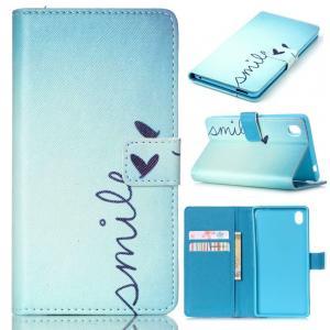 M4 Case,IVY [Smile] Xperia M4 Aqua Wallet Case [Kickstand Flip Case][Credit Cards Slot][Cash Pockets][Slim Fit] Premium Leather Flip Cover Wallet Case For Sony Xperia M4 Aqua