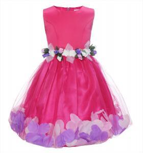 ReliBeauty Little Girls Empire Waist Tulle Pageant Flower Dress