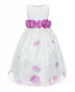 ReliBeauty Little Girls Sleeveless Flower Girl Dress with Bow