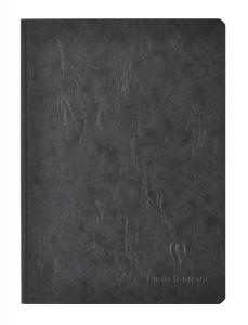 Clairefontaine Basic Large Clothbound Notebook (6 x 8.25) BLACK 192 Pages
