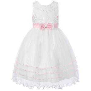Richie House Girl's Princess Dress with Layered Bottom RH1390