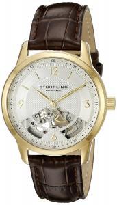 Stuhrling Original Men's 977.03 Legacy Analog Display Mechanical Hand Wind Brown Watch
