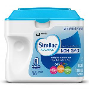 Similac Advance Non-GMO Infant Formula, Powder, 23.2 Ounces (Pack of 6)