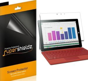 Microsoft Surface 3 Screen Protector, [3-Pack] Supershieldz® Anti-Bubble High Definition Clear Shield + Lifetime Replacements Warranty- Retail Packaging