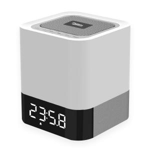 MUSKY All-in-1 Portable Wireless Bluetooth Speaker With Touch LED Lamp (Dimmable 3 Brightness) TF Card ,MP3 Player,Built in Alarm Clock and Hands-free Function(white/black)