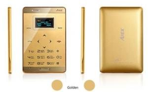 Golden Mini Ultra Slim JAVA Touch Screen Mobile Phone GSM Quadband MP3 Bluetooth Aiek M3