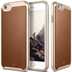 Caseology Envoy Series Slim PU Leather Bumper Cover for Apple iPhone 6/ 6S - Leather Brown