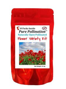 Pure Pollination 10 Flower Variety Seed Pack Heirloom Garden Open Pollinated Non-GMO