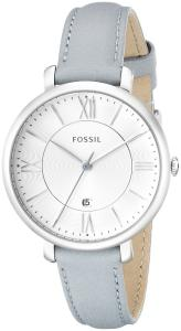 Đồng hồ Fossil Women's ES3821 Jacqueline Analog Display Analog Quartz Watch with Blue Leather Band