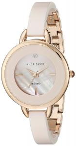 Đồng hồ Anne Klein Women's AK/2132RGLP Diamond-Accented Light Pink Ceramic Bangle Watch
