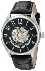 Đồng hồ Stuhrling Original Men's 'Legacy' Automatic Stainless Steel and Leather Dress Watch, Color:Black (Model: 746L.02)