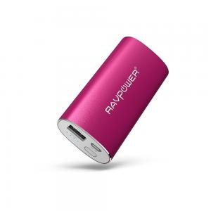 Sạc pin đa năng Portable Charger RAVPower 6700mAh (2.4A Output & 2A Input) External Battery Pack iSmart Technology for Smartphones Tablets and more - Pink