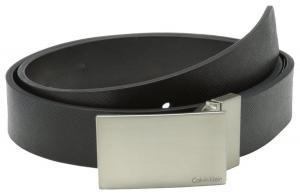 Dây lưng Calvin Klein Men's 32mm Reversible Flat Strap Plaque Buckle With Logo Belt