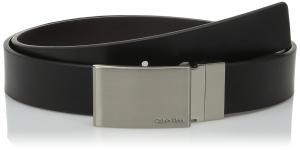 Dây lưng Calvin Klein Men's 30mm Feather Edge Belt with Plaque Buckle