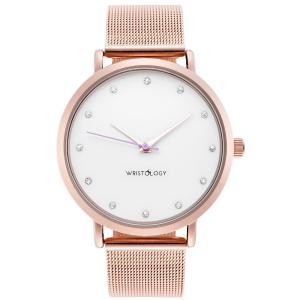 Đồng hồ Olivia Womens Crystal Rose Gold Boyfriend Watch Metal Mesh Strap