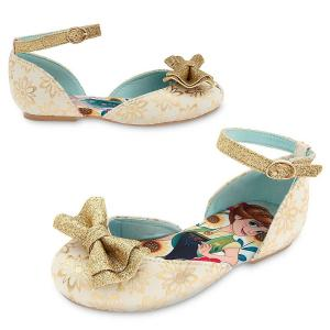 Disney Girl's Newest Golden Frozen Anna and Elsa Shoes Size 9-13