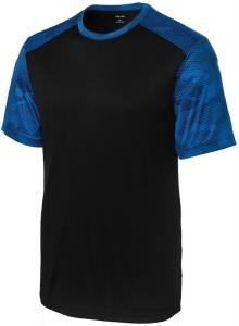 Men's CamoHex Moisture Wicking Athletic Training T-Shirts. XS-4XL