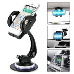 Smartphone Car Mount Holder, iKross 4-in-1 Universal Windshield / Dashboard / Sun Visor / Air Vent Car Mount Cradle Holder Kit - Black