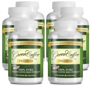 Hỗ trợ giảm cân Green Coffee Premium: 100% PURE Green Coffee Bean Extract - 50% Chlorogenic Acid - 360 Capsules - Quick Fat Burner