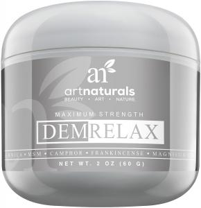 Kem mỡ Art Naturals Demrelax Pain Relief Cream 2.0 oz - Relieve Sore Joints, Muscles, Back, Neck Pain & Arthritis - Maximum Strength Treatment - With Arnica, MSM & Magnesium | Naturally Derived Ingredients
