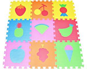 Thảm cho bé Fruit Puzzles Play Mat 9-tile EVA Foam Multi-color Kids Floor by Poco Divo