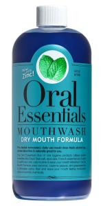 Hỗ trợ chăm sóc răng miệng Oral Essentials Dry Mouth Mouthwash 16 Oz. Dentist Recommended Moisturizes & lubricates without harsh or toxic chemicals using Coconut, Grape Seed, and Cayenne Pepper Oils Less Dry Mouth in 2 weeks