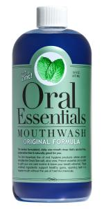 Hỗ trợ chăm sóc răng miệng Oral Essentials Mouthwash for Fresher Breath, Dentist Formulated, Alcohol Free, Sugar Free with NO Dyes, Preservatives or BPA. Non Toxic (Great Tasting and No Burning or Stinging) 16 Oz. Money Back Guarantee