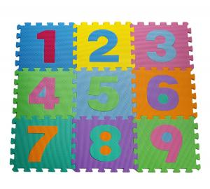 Thảm cho bé HemingWeigh Kid's Multicolored Numbers Puzzle Play Mat