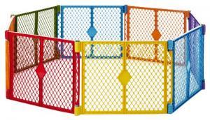 Cũi xếp cho bé North States Superyard Colorplay 8 Panel Playard