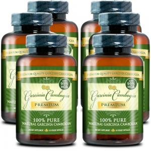 Thuốc hỗ trợ giảm cân Garcinia Cambogia Premium: 100% Pure Garcinia Cambogia Extract with HCA (6 bottles)60 capsules
