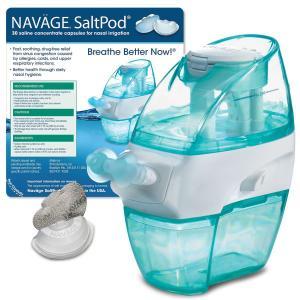 Hỗ trợ điều trị xoang Naväge Nasal Irrigation Starter Bundle: 1 Navage Nose Cleaner and 1 SaltPod® 30-Pack (30 SaltPods). $104.90 if purchased separately